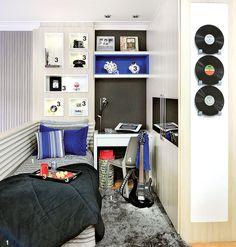 Rock inspira a montagem de muitos quartos lindos