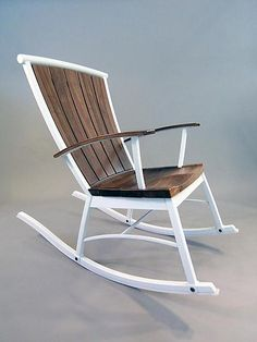 "love the contrast here.  ""Windsorondack Single Rocker"" Wood Rocking Chair by Brad Reed Nelson on Artful Home"