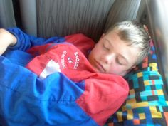 Well deserved rest in the car as we are driving back from Ermelo!