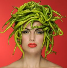 Pepper Medusa: Re-invent the food you shoot. Helmet | Peppers