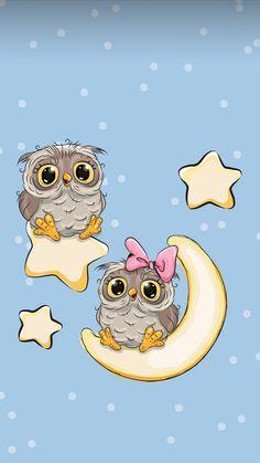 Owl Wallpaper Iphone, Cute Owls Wallpaper, Baby Animal Drawings, Cute Drawings, Paisley Art, Whimsical Owl, Owl Cartoon, Dibujos Cute, Owl Art