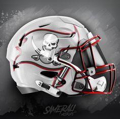New Nfl Helmets, Cool Football Helmets, Football Helmet Design, Football 101, Nfl Football Teams, Football Stuff, College Football Uniforms, Buccaneers Football, Helmet Logo