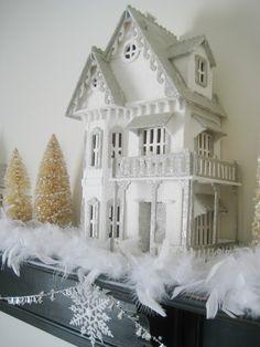 glitter house via http://robin-happyathome.blogspot.ca (inspiration only)