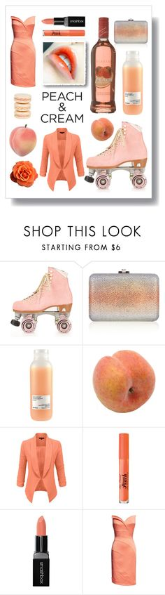 """Untitled #375"" by forageandfancy ❤ liked on Polyvore featuring beauty, Moxi, Mikimoto, Judith Leiber, Davines, Pavilion Broadway, LE3NO, Too Faced Cosmetics, Smashbox and peachlipstick"