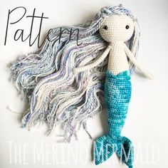 Miriam the Mermaid Crochet Amigurumi Doll Toy Pattern pdf E-book by WitchFibreCo on Etsy https://www.etsy.com/listing/218990130/miriam-the-mermaid-crochet-amigurumi