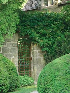 gate in garden wall...