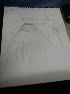 My wedding gown sketch