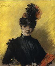 William Merritt Chase - Portrait of Mrs. Chase1886