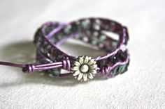 Leather wrap bracelet made by Holly Mack Designstacy at red cross  s.  $56.00  www.facebook.com/... www.hollymackdesi...