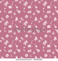 seamless background pattern with a childrens toys