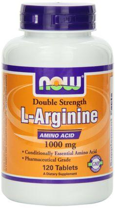Amazon.com: NOW Foods L-Arginine 1000mg, 120 Tablets: Health & Personal Care