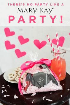 Looking for Valentine's Day ideas? Host a party for the ones you love with sweet treats and drinks, and don't forget the DIY gift bags filled with festive makeup! | Mary Kay