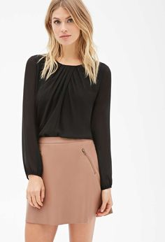 Forever 21 Pleated Chiffon Blouse for $23 / Wantering
