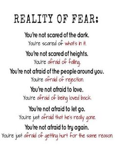 Here is Fear Quote Pictures for you. Fear Quote fear is temporary regret is forever picture quotes. Fear Quote 73 inspirational quotes on fear Afraid Of Love, Scared Of The Dark, Fear Of Love, I'm Afraid, Good Life Quotes, True Quotes, Quotes Quotes, Famous Quotes, Random Quotes