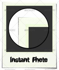 Vector Polaroid Photo with Shadow