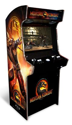 Mortal Kombat Arcade Machine Whoa, I need this! Bartop Arcade, Arcade Console, Arcade Machine, Slot Machine, Mortal Kombat Arcade, Consoles, Retro Arcade Games, Arcade Room, Future Games