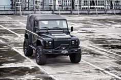 Land Rover Defender 90 Td4 Soft Top Canvas-Customized Twisted Extreme. So nice.