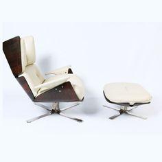 Jorge Zalszupin; Jacaranda and Chromed Metal 'Paullistana' Chair for L'Atelier, 1964.