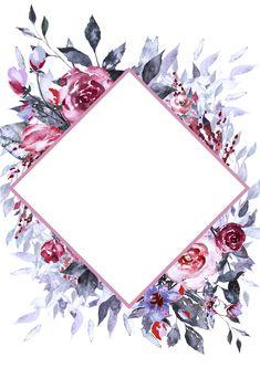 Wallpaper floral backgrounds design 38 new ideas Framed Wallpaper, Flower Background Wallpaper, Flower Backgrounds, Wallpaper Backgrounds, Invitation Background, Floral Border, Flower Frame, Pattern Wallpaper, Watercolor Flowers