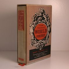 A Little Treasury of World Poetry 1952 book mid century