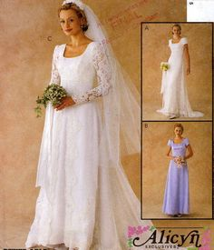 MCCALLS 3053 RETRO WEDDING DRESS SEWING PATTERN RENAISSANCE NEW E ...