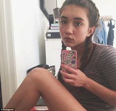 She does what she wants: Rowan often appears straight-faced in her selfies, but that doesn...