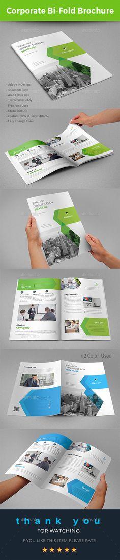 Bi-Fold Brochure Template InDesign INDD - A4 & US Letter Size