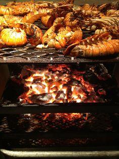 BBQ Lobsters on the Bizot grill @ GoldenEye Hotel :: Oracabessa, St. Mary, Jamaica