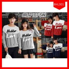 Fashion Sweater Couple Hello Love Terbaru 3ee208388a