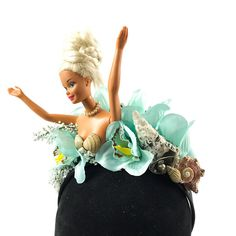 Abstract fun unique flower crown Handmade by Asbeau *Barbie* Seaside