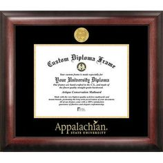 Campus Images NCAA Gold Embossed Diploma Picture Frame NCAA Team: Appalachian State Mountaineers