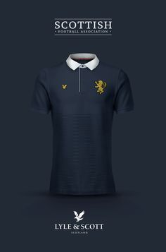 National Football kits reimagined with Local Brand sponsorship by Emilio Sansolini - Scotland x Lyle & Scott