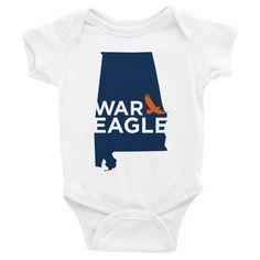 Auburn war eagle infant onesie short sleeve bodysuit inkedapparelco.com