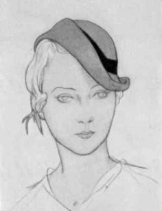 1931 Womens Hats.. Maybe wearing the fascinator off to one side came from this 1931 era of hat styles!  http://mickieparr.com/intro28-31womenshats.htm