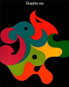 Graphis 148 1970/71 - cover design by Fritz Gottschalk. More at http://aqua-velvet.com/2011/03/gottschalk-ash-graphis-148-1970-71/