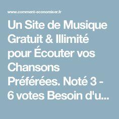 Un Site de Musique Gratuit & Illimité pour Écouter vos Chansons Préférées. Noté 3 - 6 votes Besoin d'un bon site de musique pour écouter en illimité toutes vos chansons préférées gratuitement à la maison ou au bureau ? Suivez le guide ! Il y a de plus en plus de sites Internet qui proposent de la musique gratuite comme Deezer ou encore musicMe. Un site qui mérite le détour Mais l'offre ne s'arrête pas là, et nous vous présentons aujourd'hui Grooveshark, qui est certainement le meilleur...