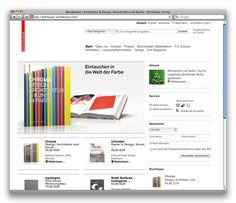 Online-Shop für den Birkhäuser Verlag, Basel (2009): Startseite birkhauser-architecture.com