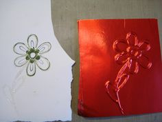 Have to try this one too.  I can make embossing plates to match my stamps...