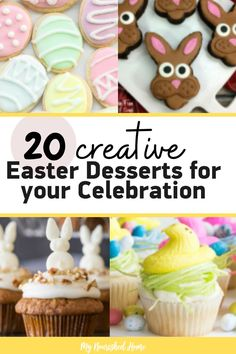 These 20 Creative Easter Desserts for your Celebration will get the kids involved and make Easter that much more special. Sugar Eggs For Easter, Easter Egg Cake, Easter Egg Crafts, Easter Food, Easter Decor, Easter Ideas, Easy Easter Desserts, Easter Recipes, Dessert Recipes