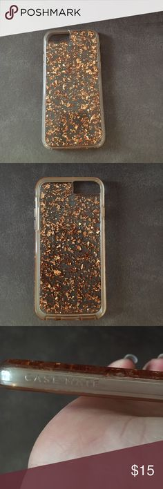 Rose gold iPhone 6/6s phone case I have this rose gold iPhone 6 case by case mate that was fairly expensive it's in really good condition barely used, I just use one case now! case mate Accessories Phone Cases