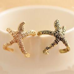 Vintage Beautiful Golden Seastar Antique Rings
