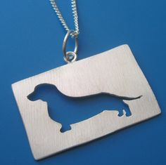 Custom Dog Silhouette Necklace by sudlow on Etsy, $48.00