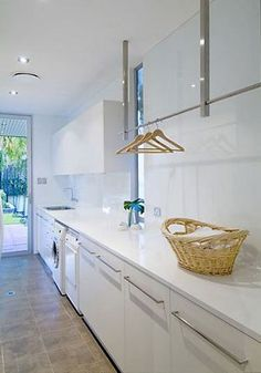 If your laundry room is on the very first amount of your house, window treatments are imperative. The laundry room is actually a closet that's inside . laundry room Coolest Laundry Room Ideas for Top Loaders with Hanging Racks Laundry Storage, Room Design, Laundry Mud Room, Interior, Pantry Laundry, Hanging Racks, Drying Room, Laundry, Modern Laundry Rooms