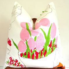 pretty painting pillow.