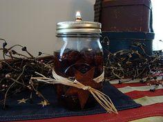 Mason Jar oil lamp tutorial.