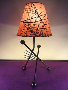 Superb 1940s 50s MCM Frederick Weinberg Eames Paul Era Atomic Tripod Table Lamp | eBay