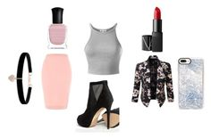 """""""Office Outfit Job"""" by kenziemoore19945 on Polyvore featuring ALDO, Topshop, LE3NO, Casetify, Betsey Johnson, NARS Cosmetics and Deborah Lippmann"""