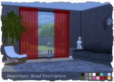 Curtains at Pixel Shrine – Devilicious • Sims 4 Updates