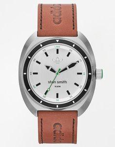 adidas Originals Stan Smith Leather Strap Watch ADH3005 - Brown #jewelry #adidas #covetme #adidasoriginals