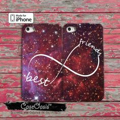 Best Friends Infinity Symbol Space Galaxy Pair Matching iPhone 4/4s Case and iPhone 5/5s/5c Case and Wallet Case and iPhone 6 and 6 Plus